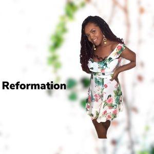 REFORMATION | Ruffle Shem Floral Dress 4